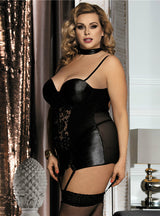Leather Lingerie Patchwork Sexy Dress