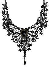 Handmade Gothic Lace Necklace Collar Necklace