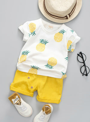 Printed Fruit Sports Suit For A Boy T-Shirt + Shorts