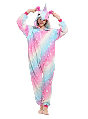 Women Pajama Rainbow Stars Fish Unicorn Suit