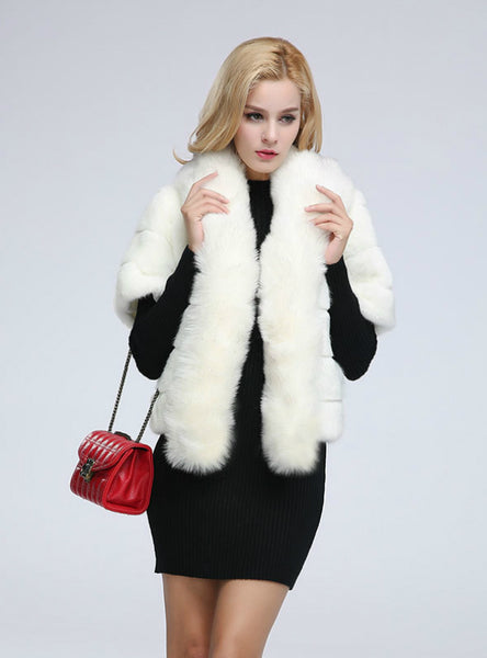 Women Imitation Rabbit Hair Short Ladies Fur Coat