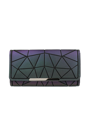 Wallets Purse Geometry Holographic Luminous Clutch