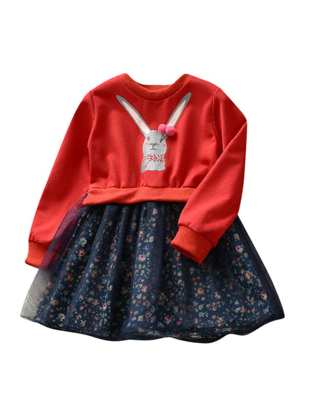 Floral Princess Dress Outfits Clothes Dress for Girl