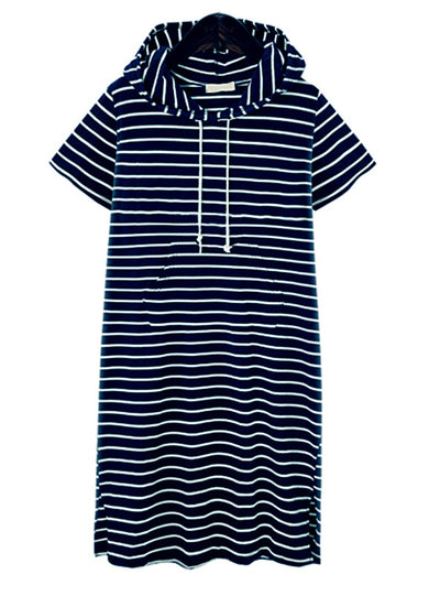 Striped Blouse Dresses Casual Work Office Dress