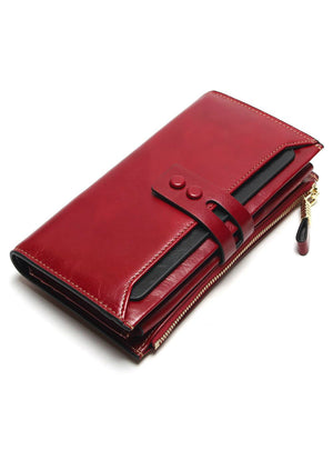 Leather High Quality Long Design Clutch Cowhide Wallet