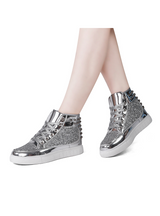 Flats Rivet Sequins Shiny Shoes Leather Ankle Boot