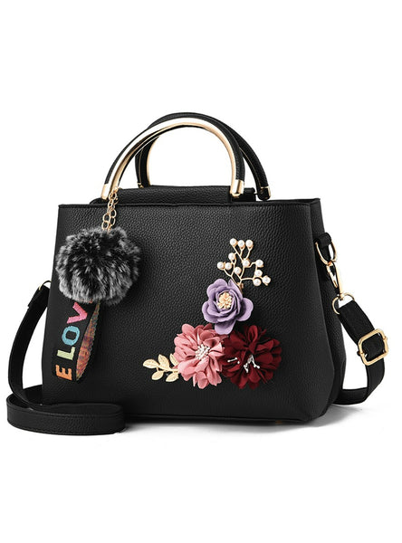 Flowers Shell Women's Tote Leather Clutch Bag
