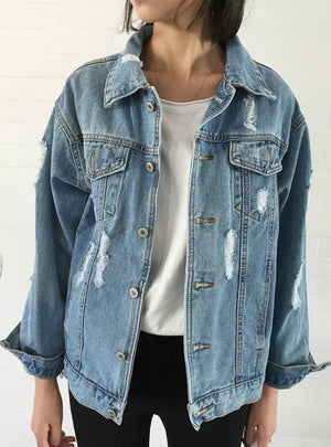 Coat Denim Jacket Women Winter Denim Jacket