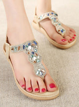 Flat Sandals Rhinestone Beach Sandals Women Shoes