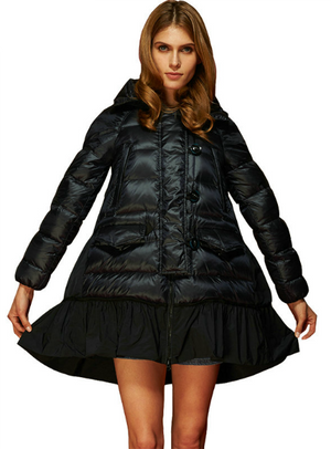 A Line Skirt Hooded Cloaks Coat Female Down Jacket