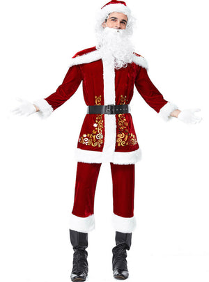 Men Santa Claus Christmas Party Costume