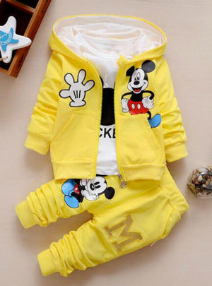 3 Piece Suit Hooded Coat Clothes Baby Cotton