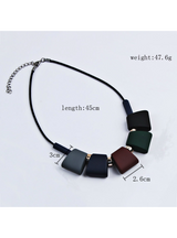 Sweater Chain Necklaces & Pendants Colorful Beads