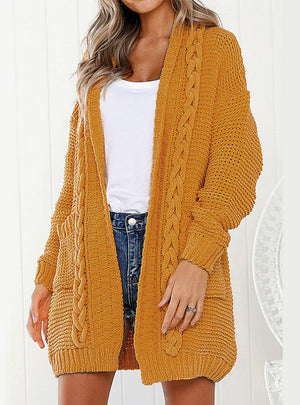 Wind Twisted Sweater Cardigan Knit Loose Coat