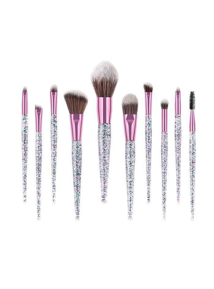 10Pcs Synthetic Blending Concealers Makeup Brushes Set