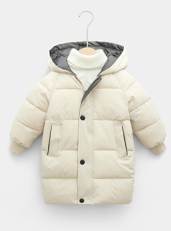 Children's Down Coat Winter Teenage Girls Cotton-padded
