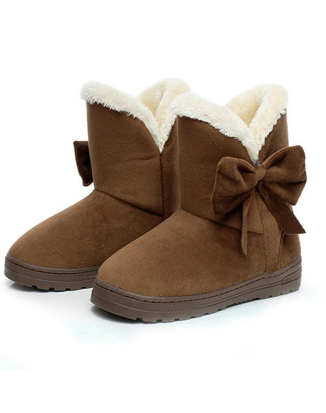 Women Snow Boots Winter Fur Ankle Boot Female