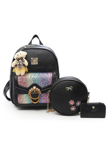 3Pcs Bag Sets Female Bagpack High Quality Leather