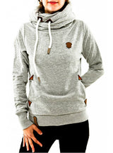 Hoodies Female Warm Hooded Sweatshirt Long Sleeve