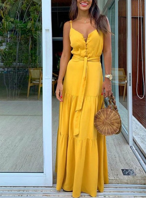 Boho Style Sleeveless Strappy Female Girls Dresses