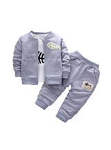 Sets Boys Cotton Coat + shirt + trousers 3pcs