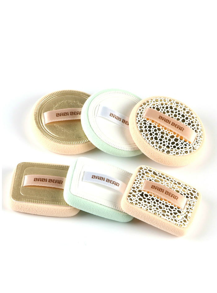 2Pcs Powder Cosmetic Puff Ribbon Soft Makeup
