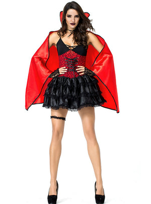 Halloween Vampire Queen Bat Costume