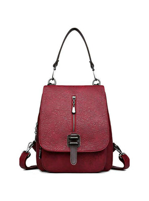 Women Backpack Leather Backpacks Female School