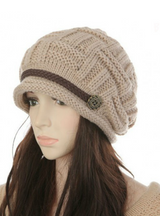 Bonnet Hat Female Knitted Crochet Cap Beanies