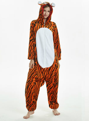 Tiger Animal Onesie Pajama Warm Animal Sleepwear