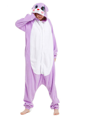 Purple Rabbit Onesie Kigurumi Cartoon Animal Pajama