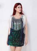 Hollow Out Party Club Pencil Summer Sequin Slim