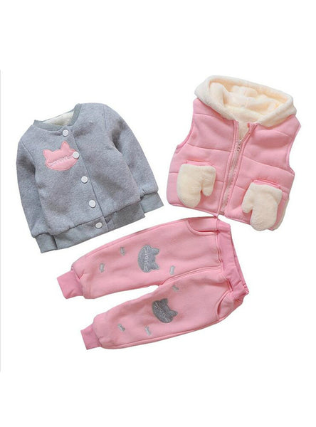 Girl 3Pcs Set Clothing Suit Baby Girl Clothing Sets