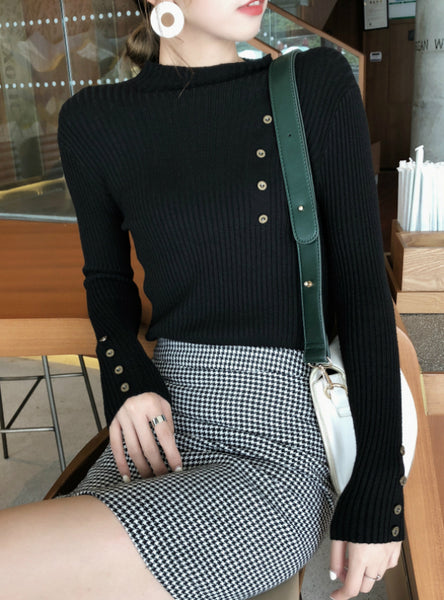 Women Slim Soft Jumper Sweater Female Knit Tops