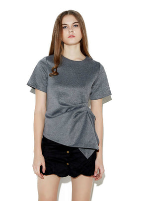 Short Sleeve O-Neck Solid Casual Femme T-shirt