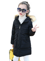 Girls Jackets&Coats Winter Fur Hooded Thick