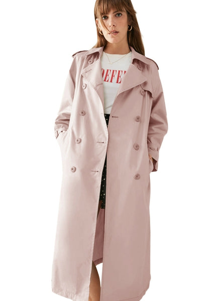 Elegant Trench Coats Lace Up Office Lady Slim Outwears