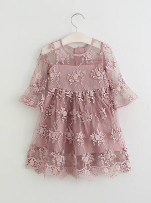 Flower Dress Baby Girl Children Girl Princess Dress