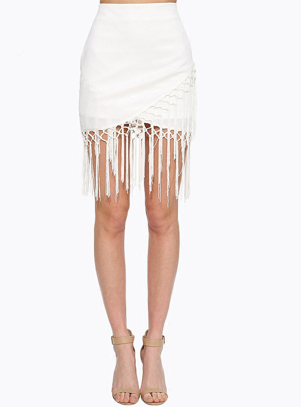 Fringed Fashion Slim Waist Bag Hip Skirt Stitching