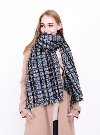 Lattice Scarf Warm  Cashmere Shawl