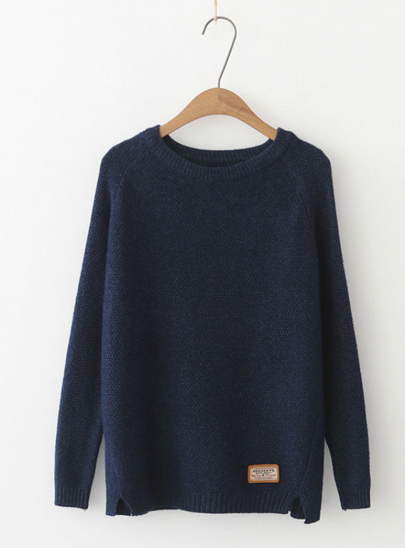 Women Sweater Pullovers Casual Split