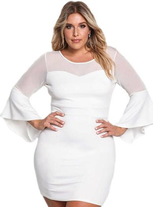 Mini Sexy White Party Dresses For Plus Size