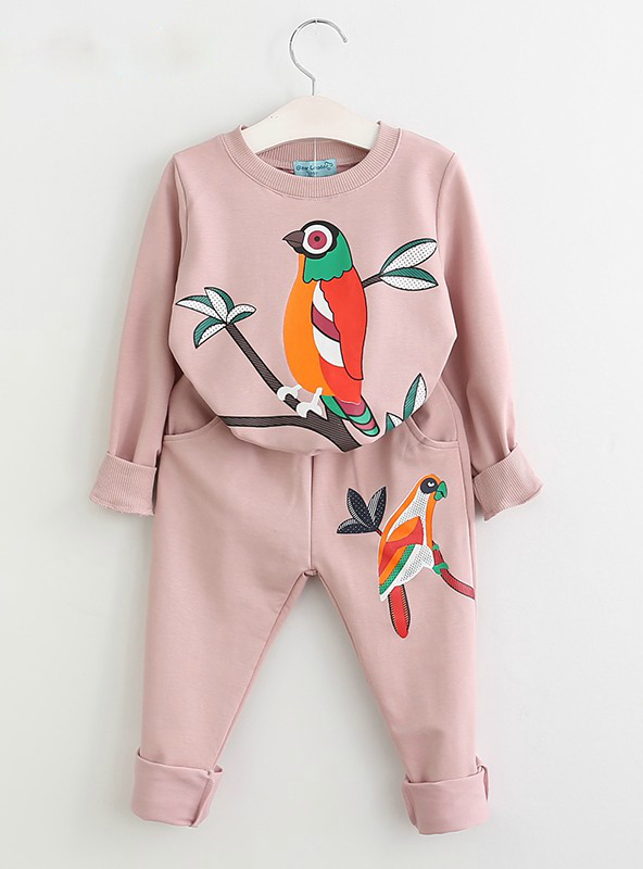 Clothing Cartoon Print Sweatshirts+Pants Suit