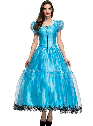 Alice's Fairyland Blue Princess Cosply Dress