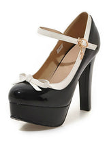 Pump Super High Thick Square Heel Patent Leather