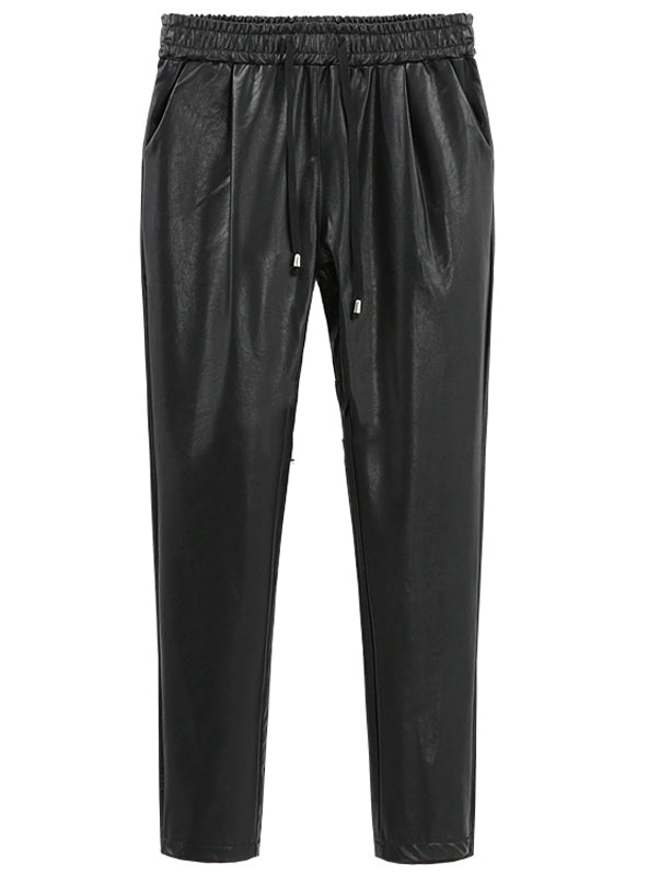 PU Faux Leather Trouser Women Harem Pant