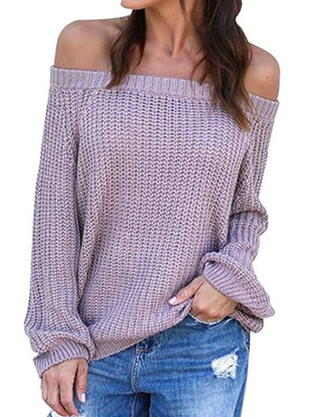 Women Turtleneck Lantern Sleeve Sweater Female