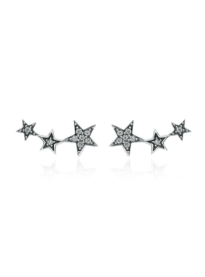 925 Sterling Silver Sparkling Stackable Star