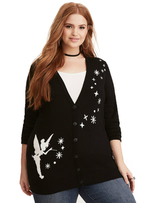 V-Neck Long Sleeve Cardigans Solid Black Lady Sweaters