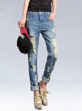 Women True Denim Jean Loose Light Jeans